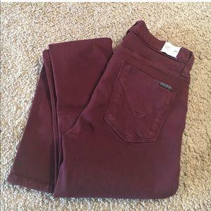 Maroon Hudson (Nico Midrise) Skinny Jeans